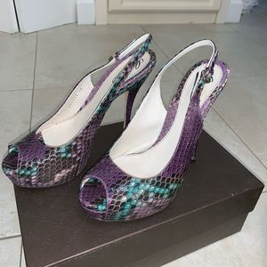 Gucci Shoes - Gucci Snakeskin Slingback